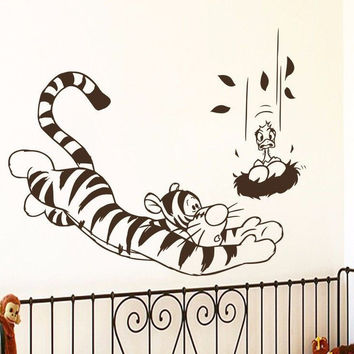 Winnie The Pooh Wall Decals Tiger Decal Nursery Baby Room Decor Sticker MR465
