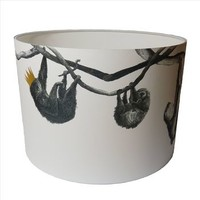 Sloths Hand Gilded Lampshade