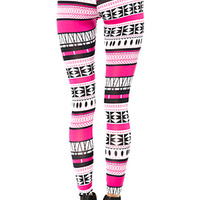 Aztec Leggings (Pink/Black)