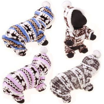 Pet Christmas Sweaters deer Dog Clothes Autumn Striped Sweet Christmas Sweater Halloween Snowflakes Dog Clothes Winter