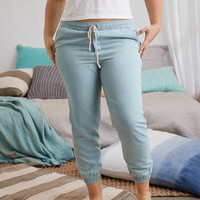 Aerie Chambray Jogger, Light Blue