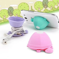 Tortoise Silicone Stand Earphone Wrap