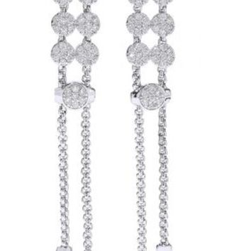 Silver-tone crystal earrings | CZ by KENNETH JAY LANE | Sale up to 70% off | THE OUTNET