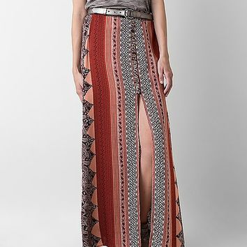 West K Printed Maxi Skirt