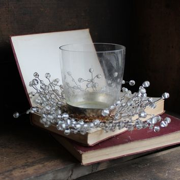 Beaded Glass Candle Holder
