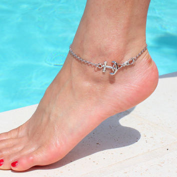 Anchors away! Anchors anklet - Tiffany and Co Inspired