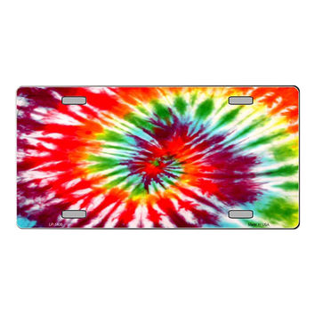 Smart Blonde Red Swirl Tie-Dye Customizable Vanity Metal Novelty License Plate Tag Sign