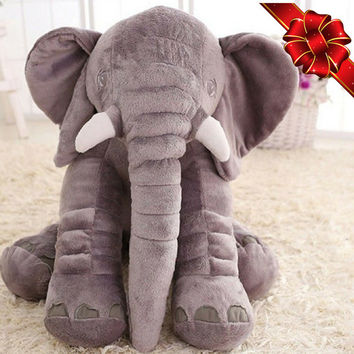Baby Christmas Toy ELEPHANT Sleeping PILLOW Plush Stuffed Animal Cute Cuddly Big Soft Toy Infant Baby Appease Decoration Nursery FreeUKPost