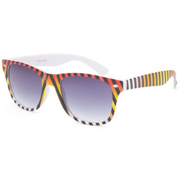 Blue Crown Ombre Stripe Classic Sunglasses Red One Size For Women 25756130001