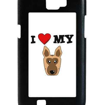 I Heart My - Cute German Shepherd Dog Galaxy Note 2 Case  by TooLoud