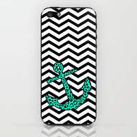 Mint Leopard Anchor iPhone & iPod Skin by M Studio