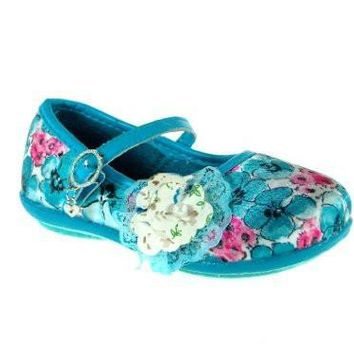 Girls Ositos 253 Floral Mary Jane Charm Flat Shoes