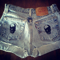 Skull High Waisted Shorts