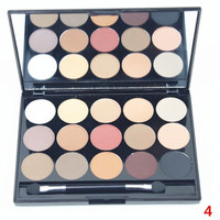 15 Colours Bronzer Concealer Earth Tone Pearl Matte Eyeshadow Palette with Mirror and Brush
