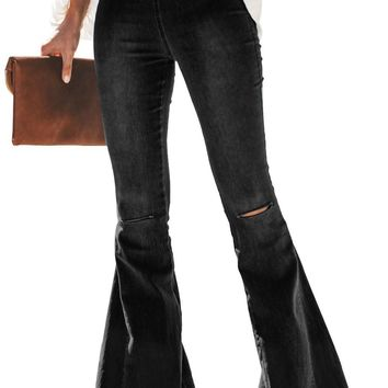 Anna-Bell Bottom Distressed Jeans