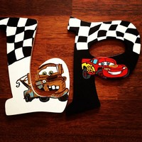 CARS INSPIRED HAND PAINTED WOOD WALL LETTERS