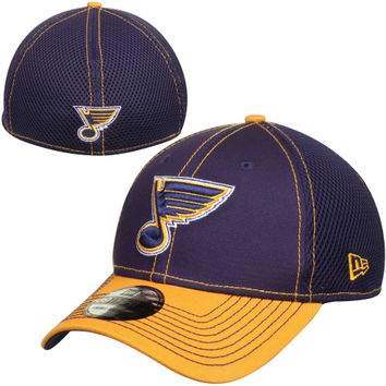 St. Louis Blues New Era Two-Tone Neo 39THIRTY Flex Hat – Navy Blue/Gold