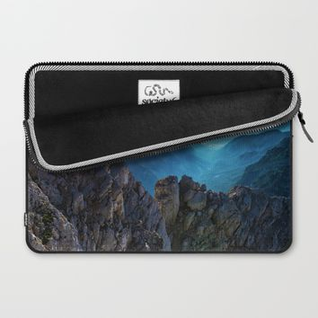 Mountains Breathe Too Laptop Sleeve by Mixed Imagery