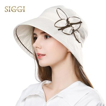 c0076a38915 SIGGI Womens linen Sun Hat for Women Summer chapeu feminino prai