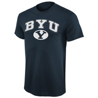 BYU Cougars Arch Over Logo T-Shirt - Navy Blue