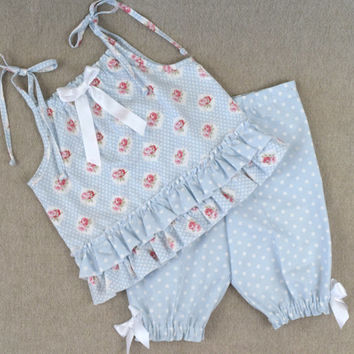 Girls summer outfit , girls capri outfit , boutique outfit , girls capris , capri pants , toddler summer outfit , ready to ship size 5