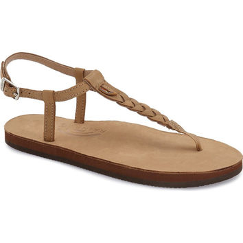T-Street Single Layer Leather Sandal in Sierra Brown by Rainbow Sandals
