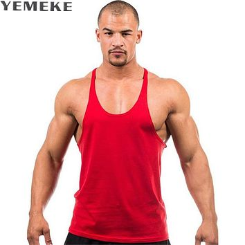 Fashion Style Tank Top Men Solid Color Sleeveless Shirt Tops Bodybuilding Clothing Muscle Undershirt Fitness Vest