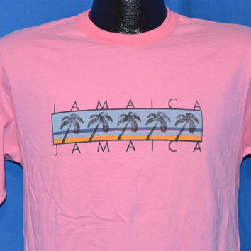 90s Pink Jamaica t-shirt Medium