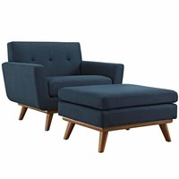 Azure Engage 2 Piece Armchair and Ottoman