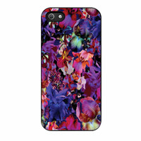 Lush Floral Pattern Beaming Orchid Purple iPhone 5 Case