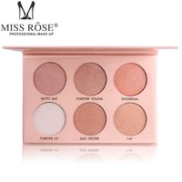 6 Colors Faced Makeup Bronzers Highlighters Cosmetic Palette Highlighter Make Up Palette Concealer Powder Glow Kit illuminator