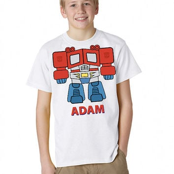 Headless Transformers Optimus Prime T-Shirt Personalized With Your Name