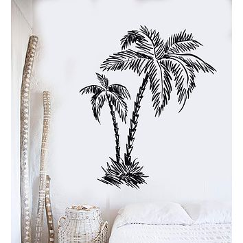 Vinyl Wall Decal Tropical Palm Trees Beach Relax Decor Stickers Mural Unique Gift (106ig)