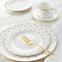 5-Piece Gold-Dot Dinnerware Place Setting
