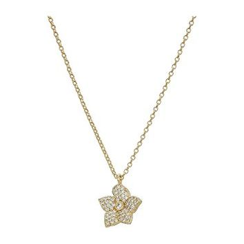Kate Spade New York Blooming Pave Bloom Mini Pendant Necklace
