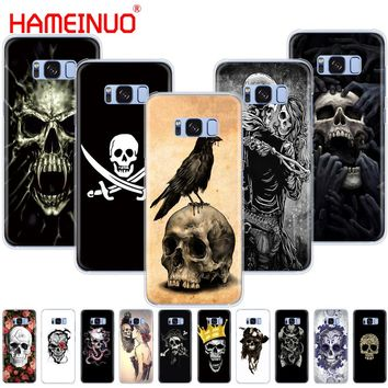 Skull flower pirate love cell phone case cover for Samsung Galaxy S7 edge PLUS S8 S6 S5 S4 S3 MINI