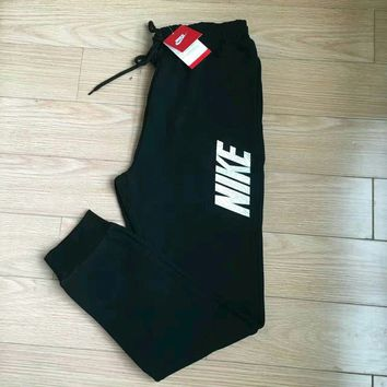 "Women Autumn Winter Fashion ""NIKE"" Print Thick Sport Stretch Pants Trousers Sweatpants Gym Jogging Exercise Casual Sportswear"