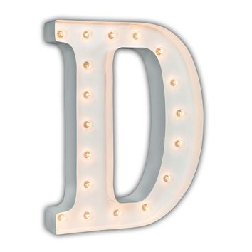 "24"" Letter D Lighted Marquee Letters (White Gloss)"