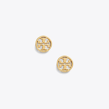 Tory Burch Logo-circle Stud Earring