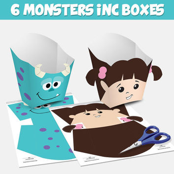 6 Popcorn Box Monsters Inc - box popcorn Monsters Inc