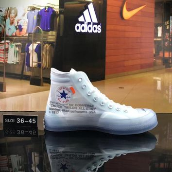 OFF WHITE x CONVERSE Joint High-top canvas shoes