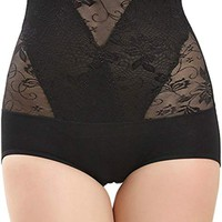 Women's High Waist Control Panties Sexy Thong Panty Shapewear