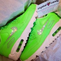 Crystal Nike Air Max 90's in Neon Green