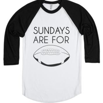 Sundays Are For Football-Unisex White/Black T-Shirt