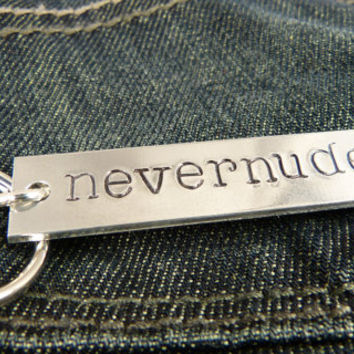 Never Nude - Tobias Funke - Arrested Development - Aluminum Key Chain