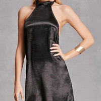 Reverse Satin Shift Dress