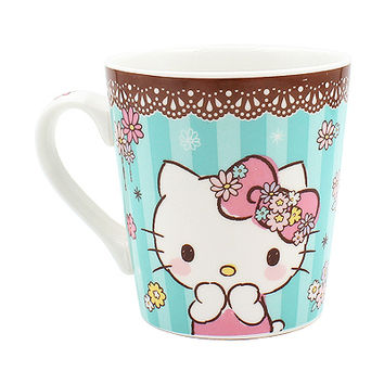 Buy Sanrio Hello Kitty Lace Edge Blue Mug in Box at ARTBOX