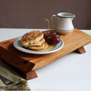 Cherry Cutting Board Salvaged Wood Serving Tray by grayworksdesign