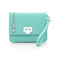 Tiffany & Co. - Wrist pochette in Tiffany Blue® grain leather. More colors available.