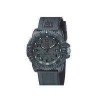 Luminox Men's 3051.BO Navy Seal Colormark 3050 Series, Quartz Movement With Rubber Band, Black Watch